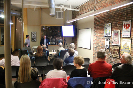 Entrepreneurs of Knoxville Pitch Competition, Knoxville Entrepreneur Center, Market Square, Knoxville, November 2013