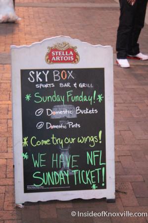 Sky Box, 415 S. Gay Street, Knoxville, November 2013