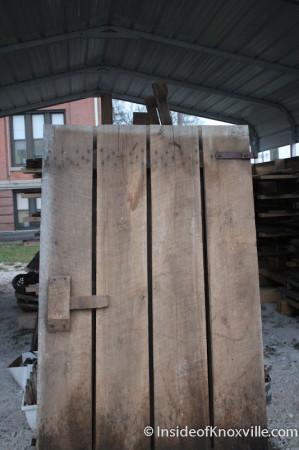 Barn Door, Smoky Mountain Vintage Lumber, Central Street, Knoxville, November 2013