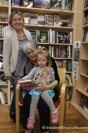 Bunnie Presswood, Flossie McNabb and Allie Dell Presswood, Union Avenue Books, 517 Union Avenue, Knoxville, November 2013