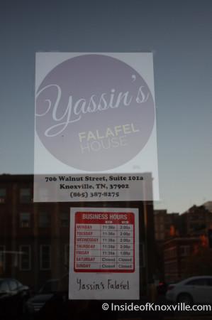 Yassin's Falafel House, 706 Walnut Street, Knoxville, November 2013
