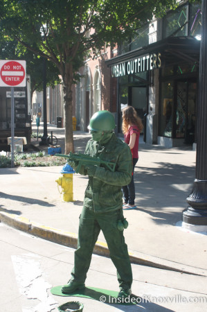Army Guy, Market Square, Knoxville, Autumn 2013