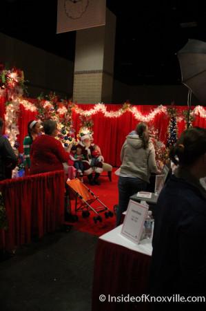 Santa at the Fantasy of Trees, Knoxville Convention Center, November 2013