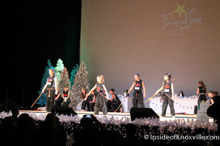 Entertainment at the Fantasy of Trees, Knoxville Convention Center, November 2013