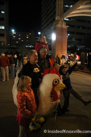 Freddie from WDVX, Ho Ho Ho Down, Market Square, Knoxville, November 2013