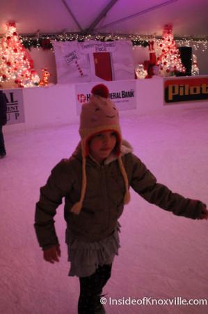 Ice Skating on Market Square, Knoxville, November 2013