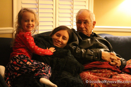 Urban Girl, Urban Daughter and Urban Father, Thanksgiving, Downtown Knoxville, November 2013