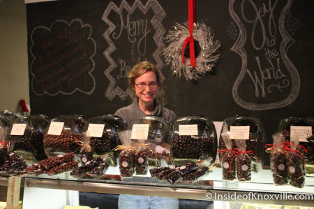 Hillary at Bradley's Chocolate Factory, Knoxville, January 2014