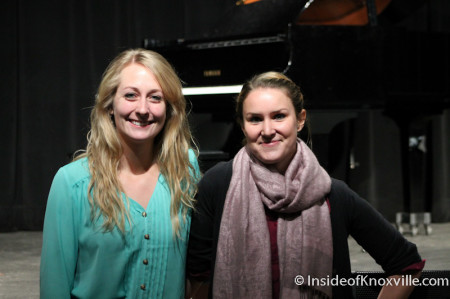 Danielle Roos and Kerri Koczen of Yellow Rose Productions, Knoxville, January 2014