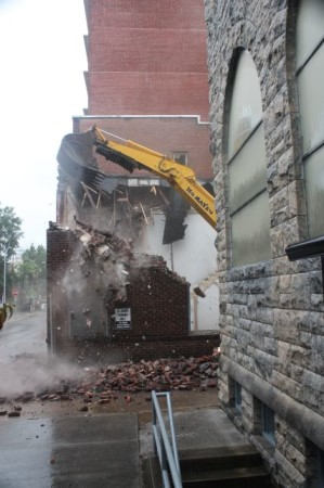 Destruction of 710 and 712 Walnut by St. John's Episcopal Church, Knoxville, September 2013