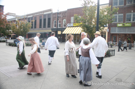 English Country Dancing on Market Square, Knoxville, Fall 2013