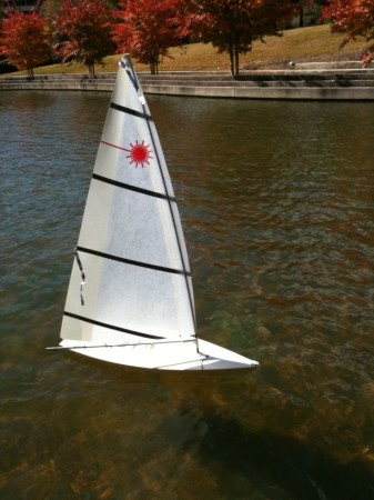 Remote Controlled Sailboat, World's Fair Park, Knoxville, 2013