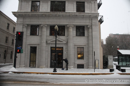 Holston Building, Knoxville in the Snow, January 2014