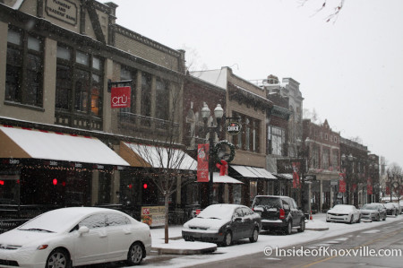 100 Block, Knoxville in the Snow, January 2014
