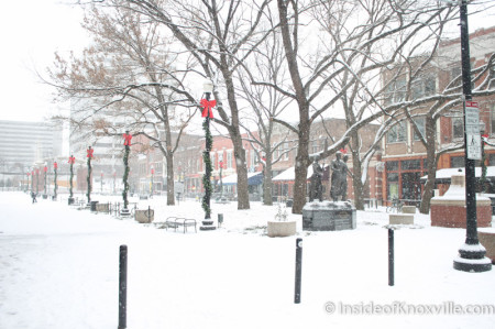 Market Square, Knoxville in the Snow, January 2014