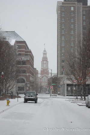 Market Street, Knoxville in the Snow, January 2014