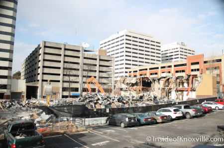 Liberty Building Demolition, Knoxville, January 2014