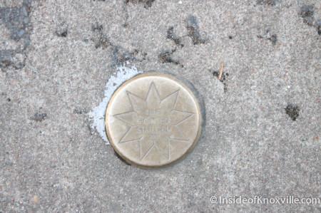 Medallion on Krutch Park, Knoxville, December 2013