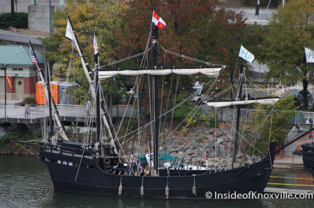 Nina and Pinta, Tennessee River, Knoxville, Fall 2013