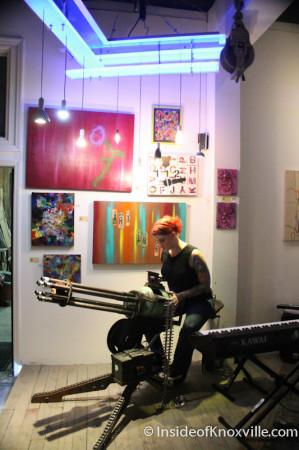 Gatling Gun Reverie, Art and Jazz for the Cure with Paulk and Company, 510 Williams Street, Knoxville, February 2014
