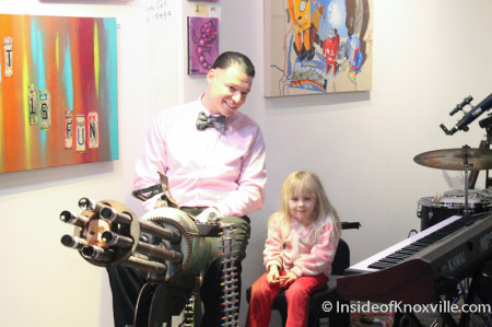 Nathaniel Tucker and a Young Friend, Art and Jazz for the Cure with Paulk and Company, 510 Williams Street, Knoxville, February 2014