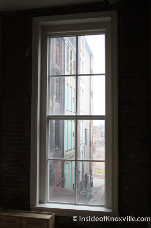 View of Back Alley, Century Building, 312 S. Gay Street, Knoxville, February 2014