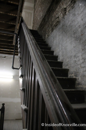 Old Stairwell, Century Building, 312 S. Gay Street, Knoxville, February 2014