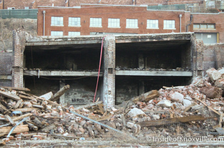 Demolition of the Mcclung Warehouses, Knoxville, February 2014