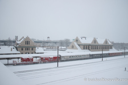 Southern Railway Station and Depot, Knoxville in the Snow, February 13, 2014