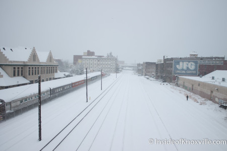 Train Tracks, Knoxville in the Snow, February 13, 2014