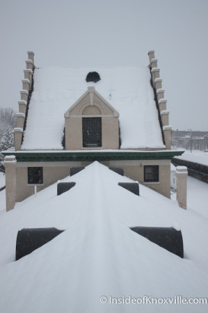 Top of the Southern Railway Freight Depot, Knoxville in the Snow, February 13, 2014