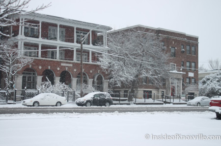 Knoxville in the Snow, February 13, 2014