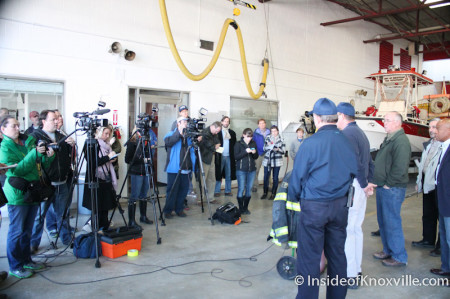 Press Conference, McClung Warehouse Fire, Knoxville, February 1, 2014