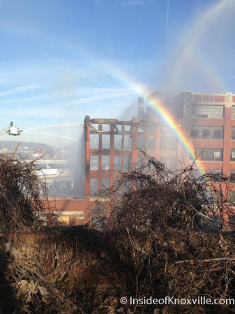 MCClung Warehouse Fire, Knoxville, February 1, 2014 (Photo Courtesy of Melinda Grimac)