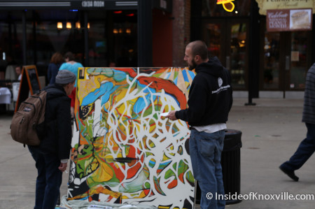 Artist on Market Square, Knoxville, March 2014