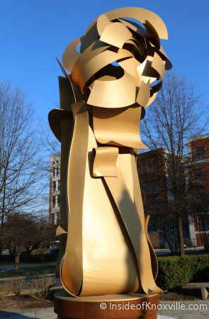 """""""Envious Composure"""" by Albert Paley, Country Music Park, Knoxville, March 2014"""