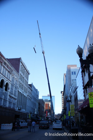 Crane on Gay Street, Knoxville, February 2014