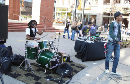 Jamming on Market Square, Knoxville, March 2014