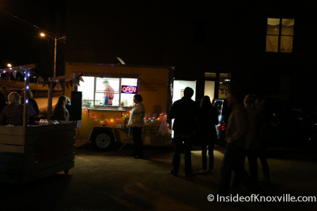 March Food Truck Madness, Jackson Avenue, First Friday, Knoxville, March 2014