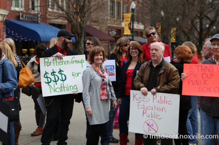 Press Conference and Rally for Public Education with Gloria Johnson, Market Square, Knoxville, March 2014