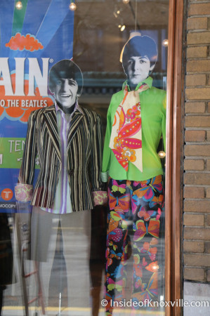 Reruns Beatles Window Display, 521 Union Avenue, Knoxville, March 2014