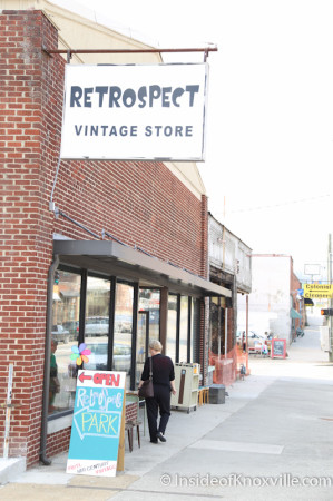 Retrospect Vintage Store, 1121 N. Central Street, Knoxville, March 2014