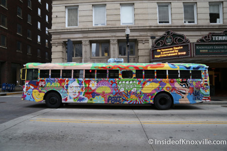 Sweet Sixteen Party with the Big Love Bus, Gay Street, Knoxville, March 2014