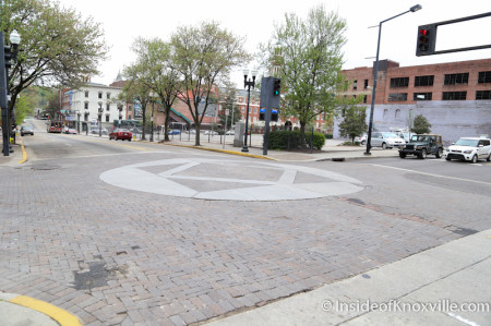 Intersection of Church and Gay, 700 Block of Gay Street, Streetscape Plan, Knoxville, April 2014