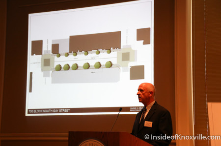 David Craig speaks of the 700 Block of Gay Street, Streetscape Plan, Knoxville, April 2014