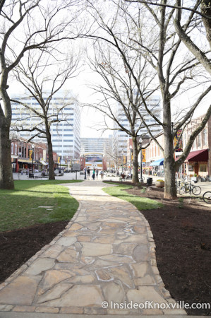 New Stone Pathway across Market Square, Knoxville, April 2014