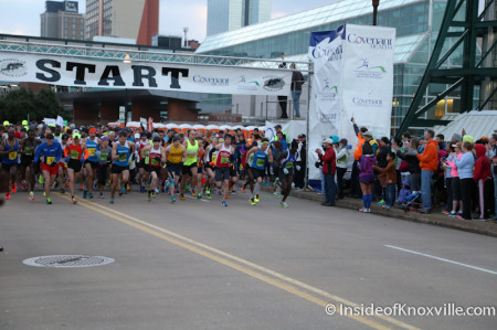 The Start of the Knoxville Marathon, March 2014