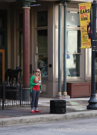 Sabrina on the Street, Knoxville Marathon, March 2014