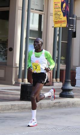 Winner, Mark Chepses, Knoxville Marathon, March 2014