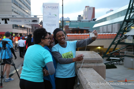 Selfies at the Knoxville Marathon, March 2014